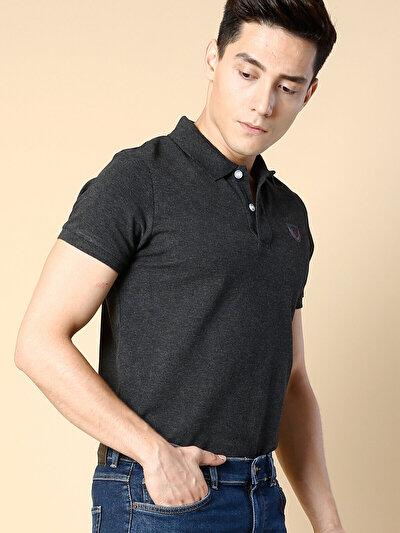 COLINS антрацит мужской футболки-поло к. рукав<br>Пол: мужской; Цвет: смешанный антрацит; Размер INT: M;
