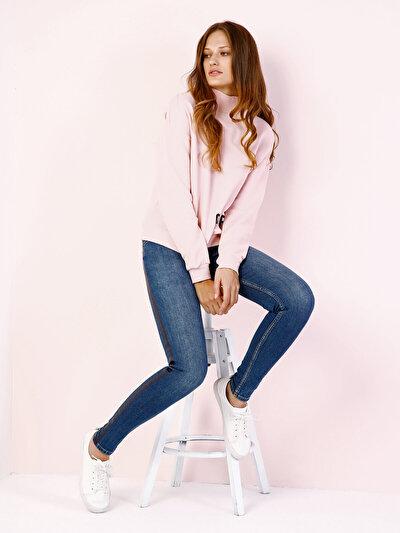 COLINS розовый женский толстовки<br>Пол: женский; Цвет: светло-розовый; Размер INT: M;