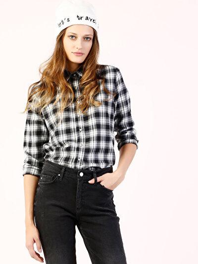 COLINS антрацит женский рубашки длинний рукав<br>Пол: женский; Цвет: антрацит; Размер INT: M;
