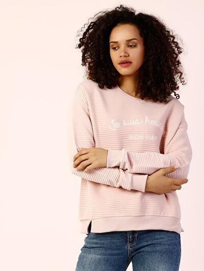 COLINS розовый женский толстовки<br>Пол: женский; Цвет: светло-розовый; Размер INT: S;