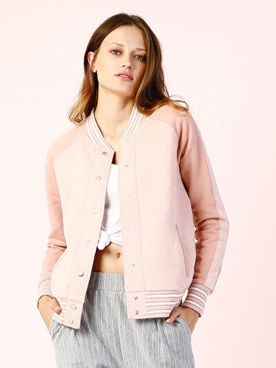COLINS розовый женский жакеты<br>Пол: женский; Цвет: светло-розовый; Размер INT: M;