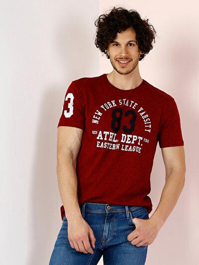 COLINS красный мужской футболки короткий рукав<br>Пол: мужской; Цвет: красный меланж; Размер INT: L;