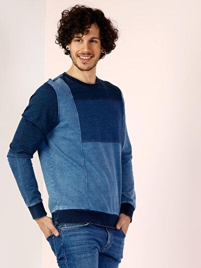 COLINS голубой <br>Пол: мужской; Цвет: индиго; Размер INT: XL;