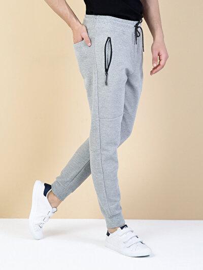 COLINS серый мужской спортивные брюки<br>Пол: мужской; Цвет: смешанный серый; Размер INT: M;