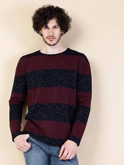 COLINS бордовый мужской футболки длинный рукав<br>Пол: мужской; Цвет: бордовый меланж; Размер INT: S;
