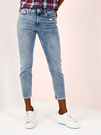 COLINS  женский брюки<br>Пол: женский; Цвет: джоини уош; Размер INT: 29/28;