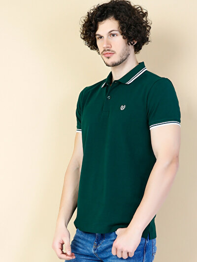 COLINS зеленый мужской футболки-поло к. рукав<br>Пол: мужской; Цвет: зеленый; Размер INT: XL;