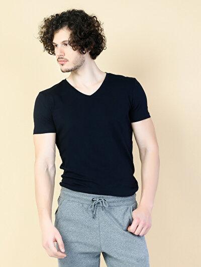 COLINS черный мужской футболки короткий рукав<br>Пол: мужской; Цвет: черный; Размер INT: S;