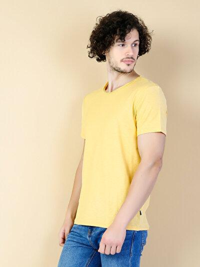 COLINS  мужской футболки короткий рукав<br>Пол: мужской; Цвет: горчичный; Размер INT: S;