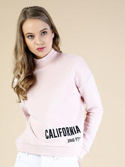 COLINS розовый женский толстовки<br>Пол: женский; Цвет: светло-розовый; Размер INT: XS;