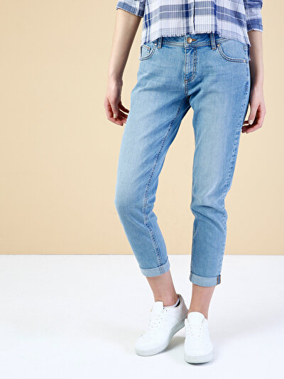 COLINS  женский брюки<br>Пол: женский; Цвет: блич палила уош; Размер INT: 27/30;