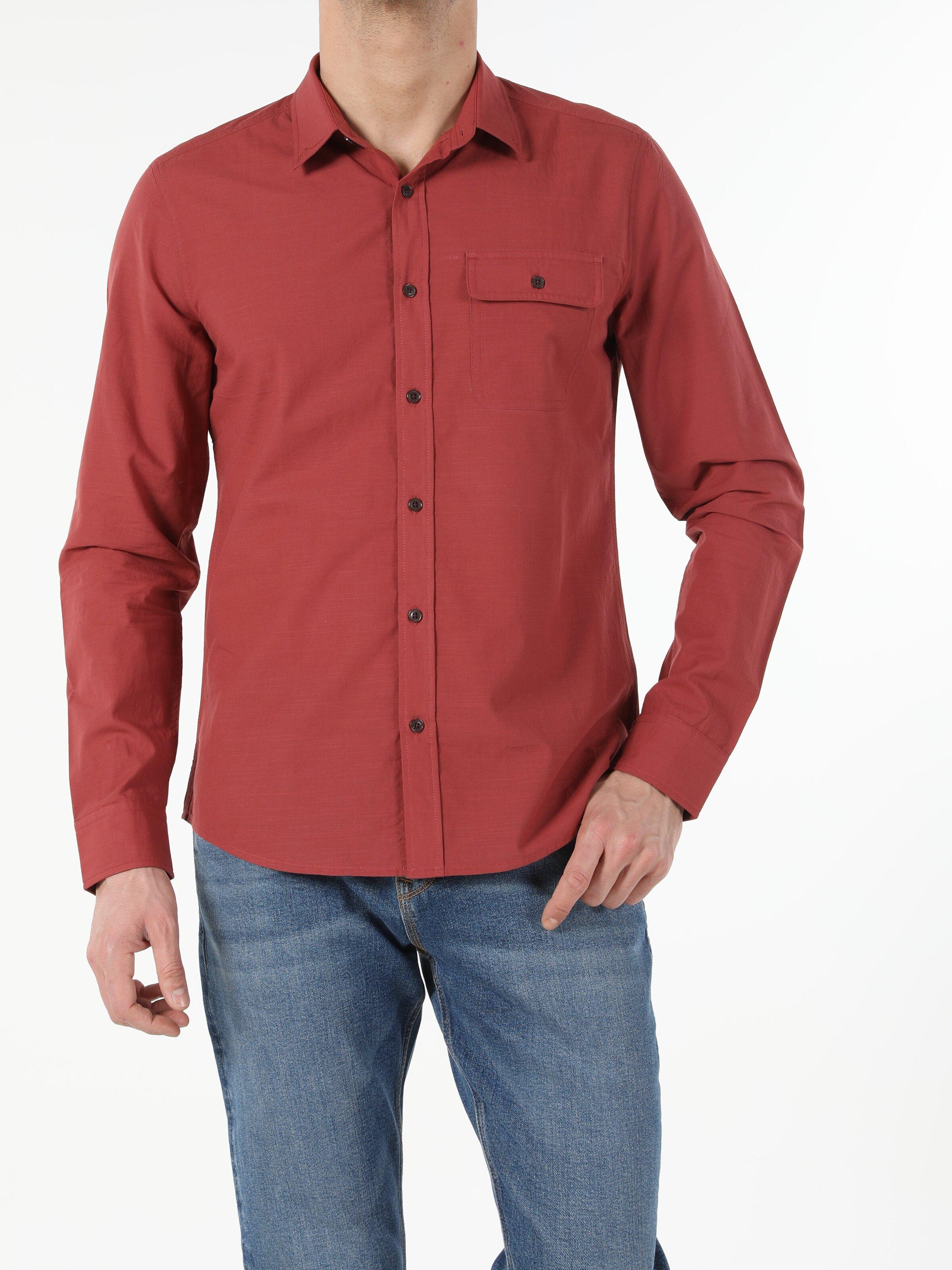 Показать информацию о Мужская рубашка с длинним рукавом slim fit CL1053994