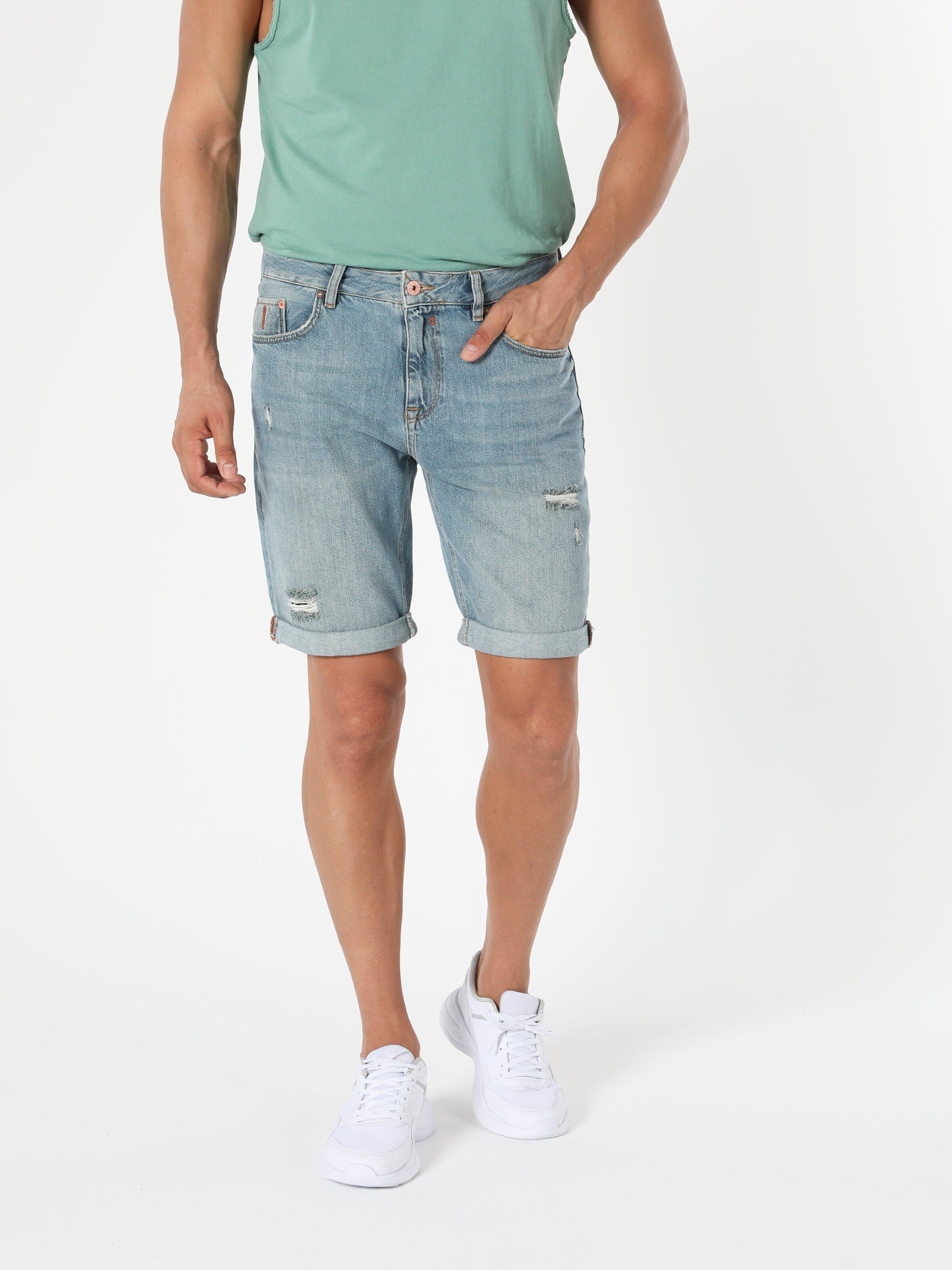 Показать информацию о Мужские прямые шорты regular fit 045 DAVID CL1054561