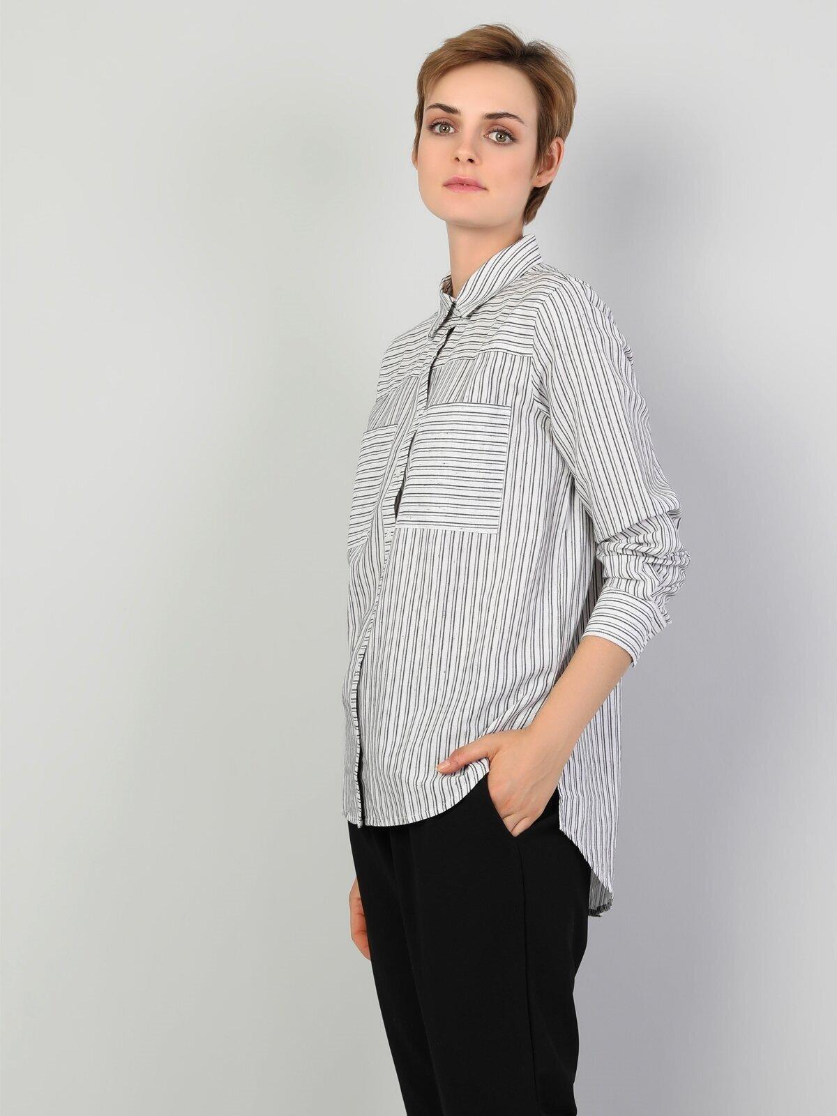 Показать информацию о Женская рубашка с длинним рукавом regular fit CL1047113