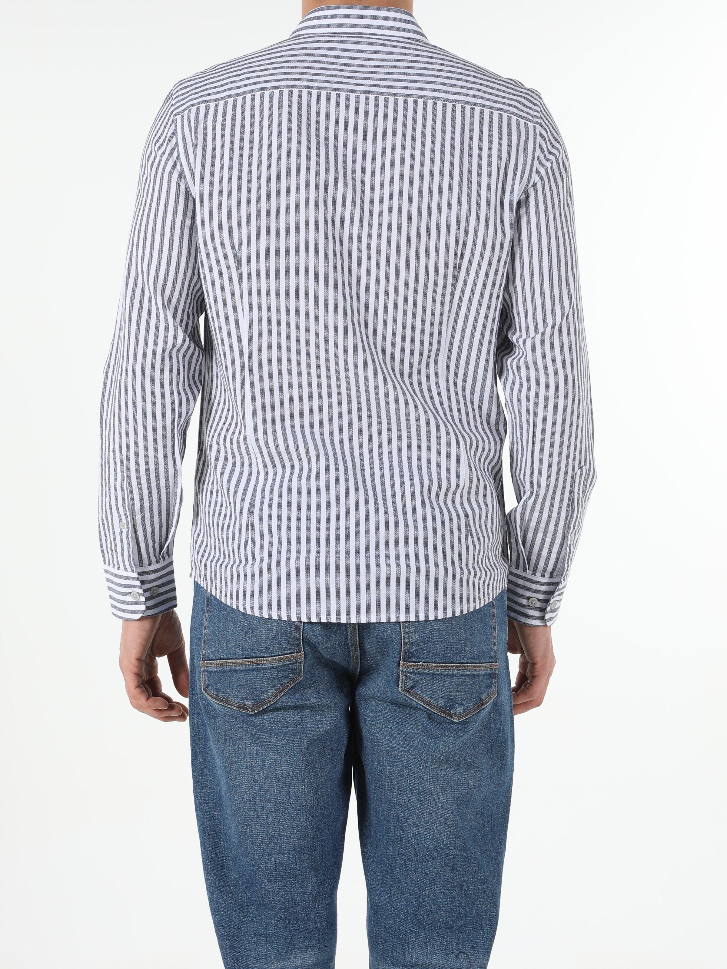 Показать информацию о Мужская рубашка с длинним рукавом slim fit CL1053802