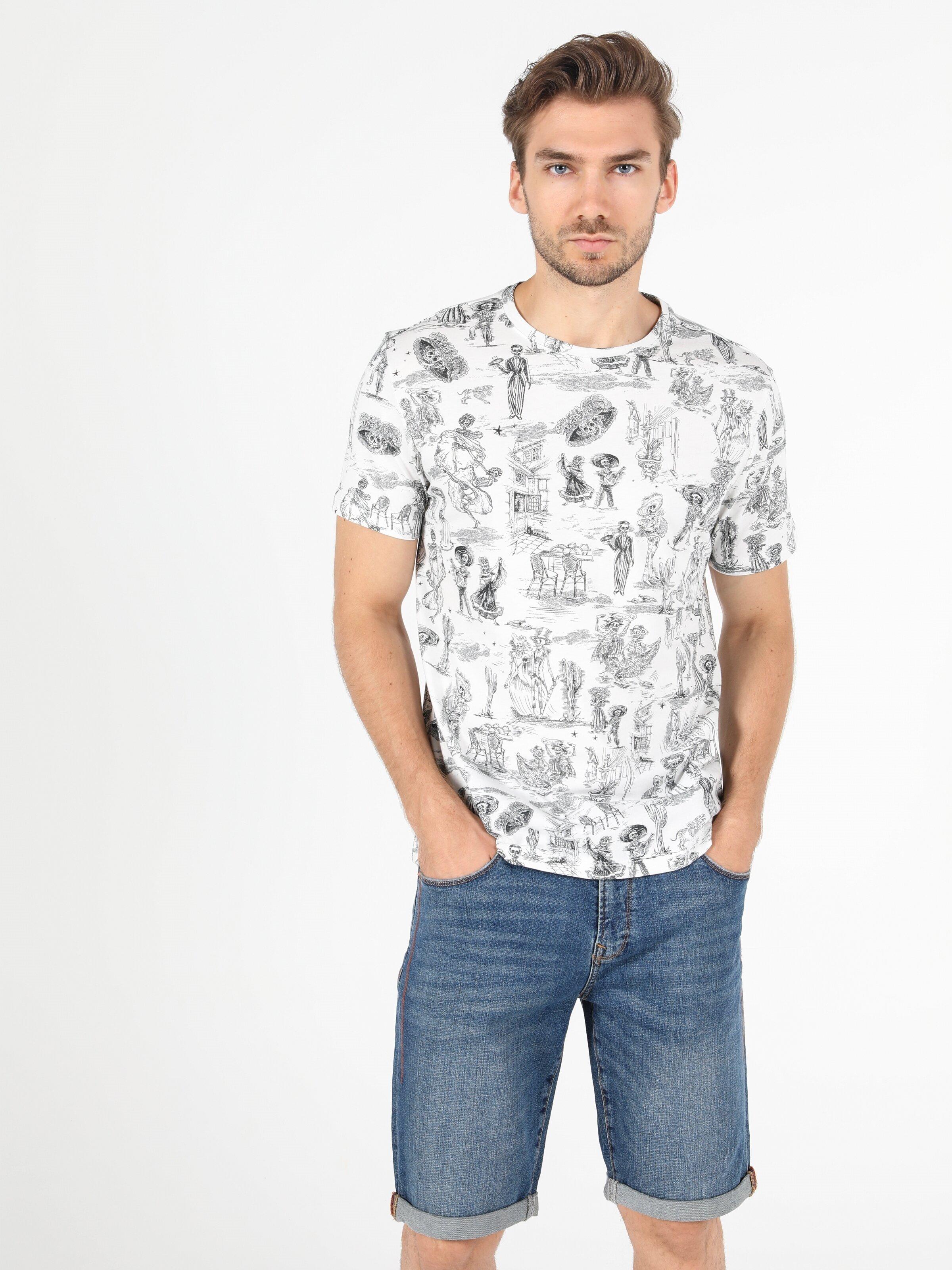 Показать информацию о Мужская футболка с коротким рукавом regular fit CL1052031