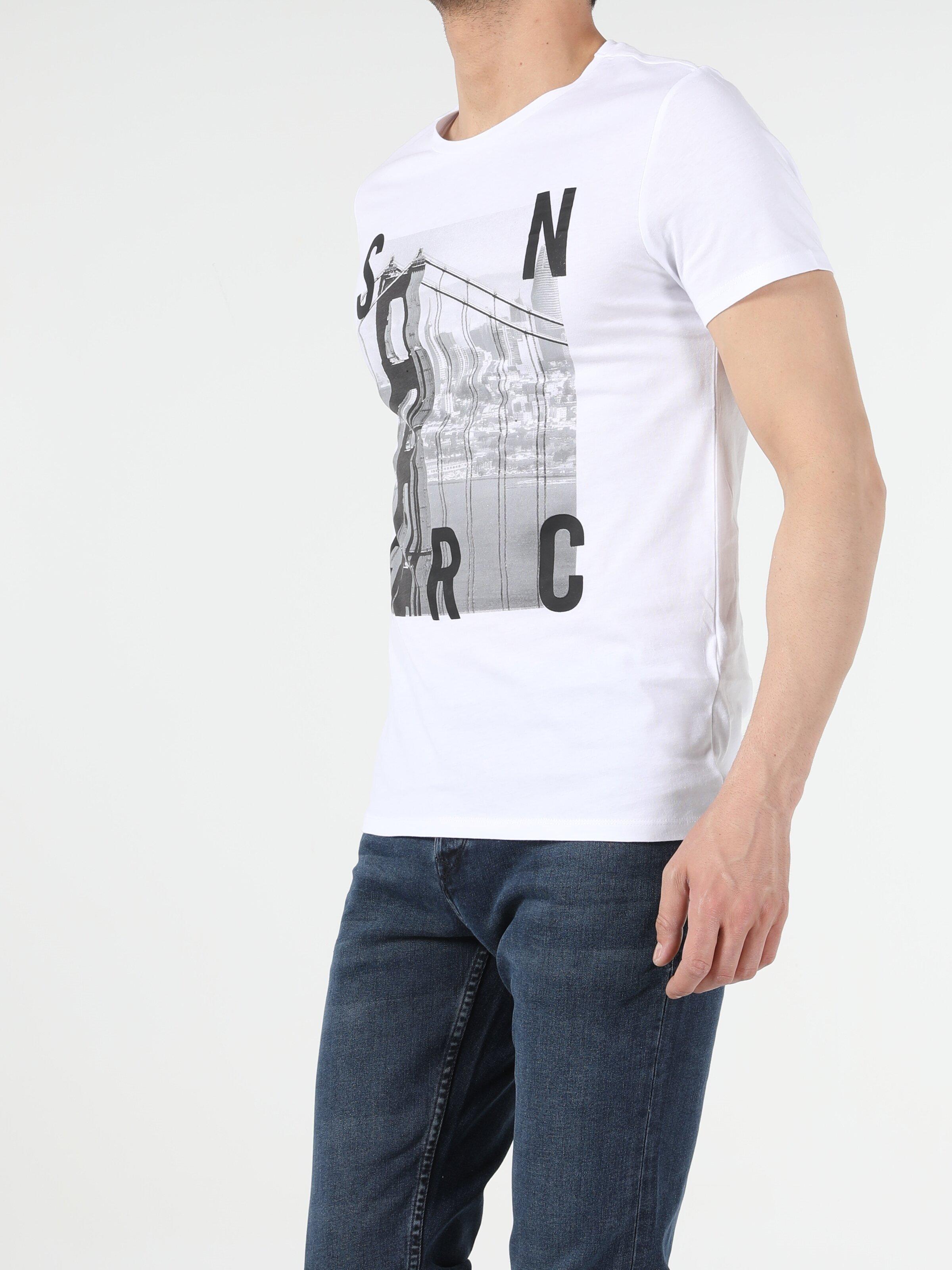 Показать информацию о Мужская футболка с коротким рукавом regular fit CL1053876