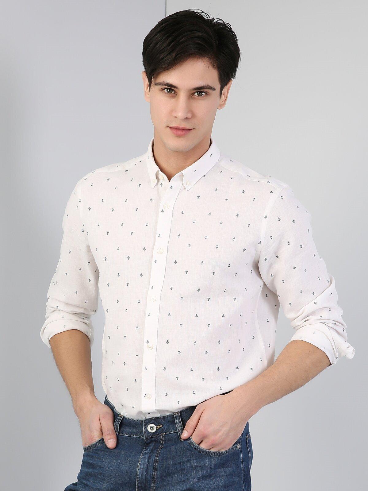 Показать информацию о Мужская рубашка с длинним рукавом regular fit CL1042879