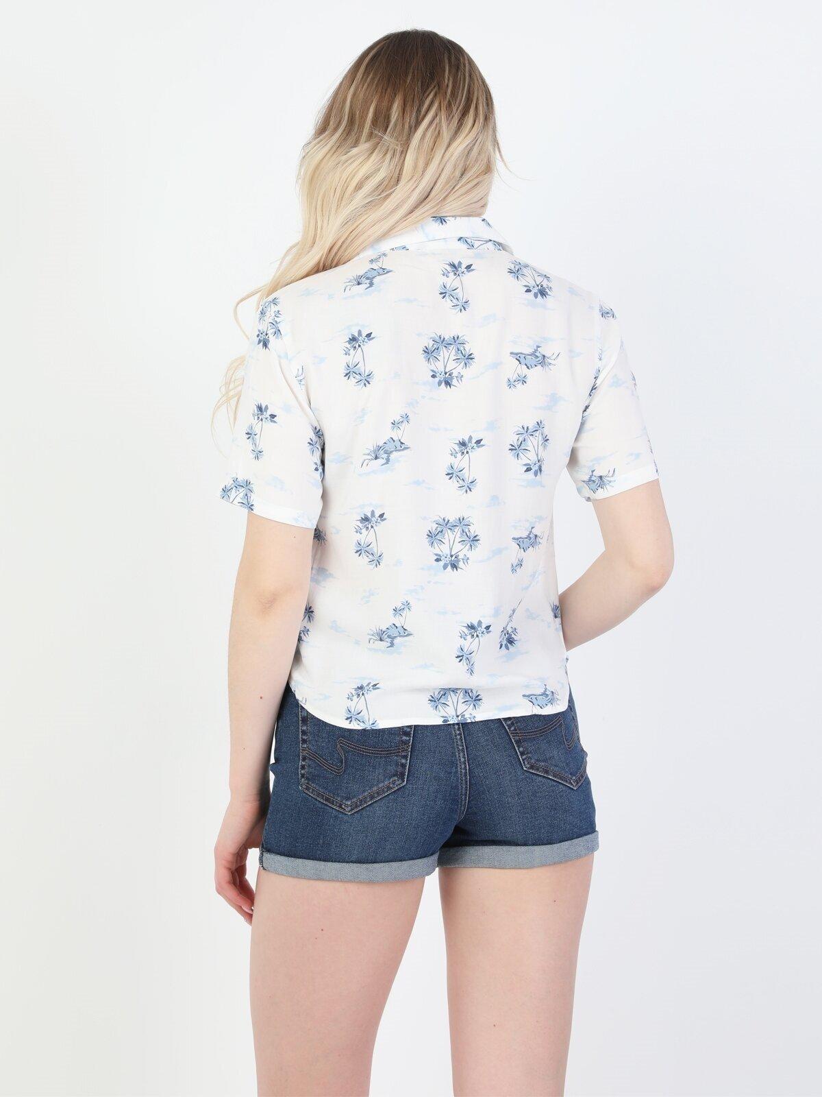 Показать информацию о Женская рубашка с коротким рукавом regular fit CL1048902