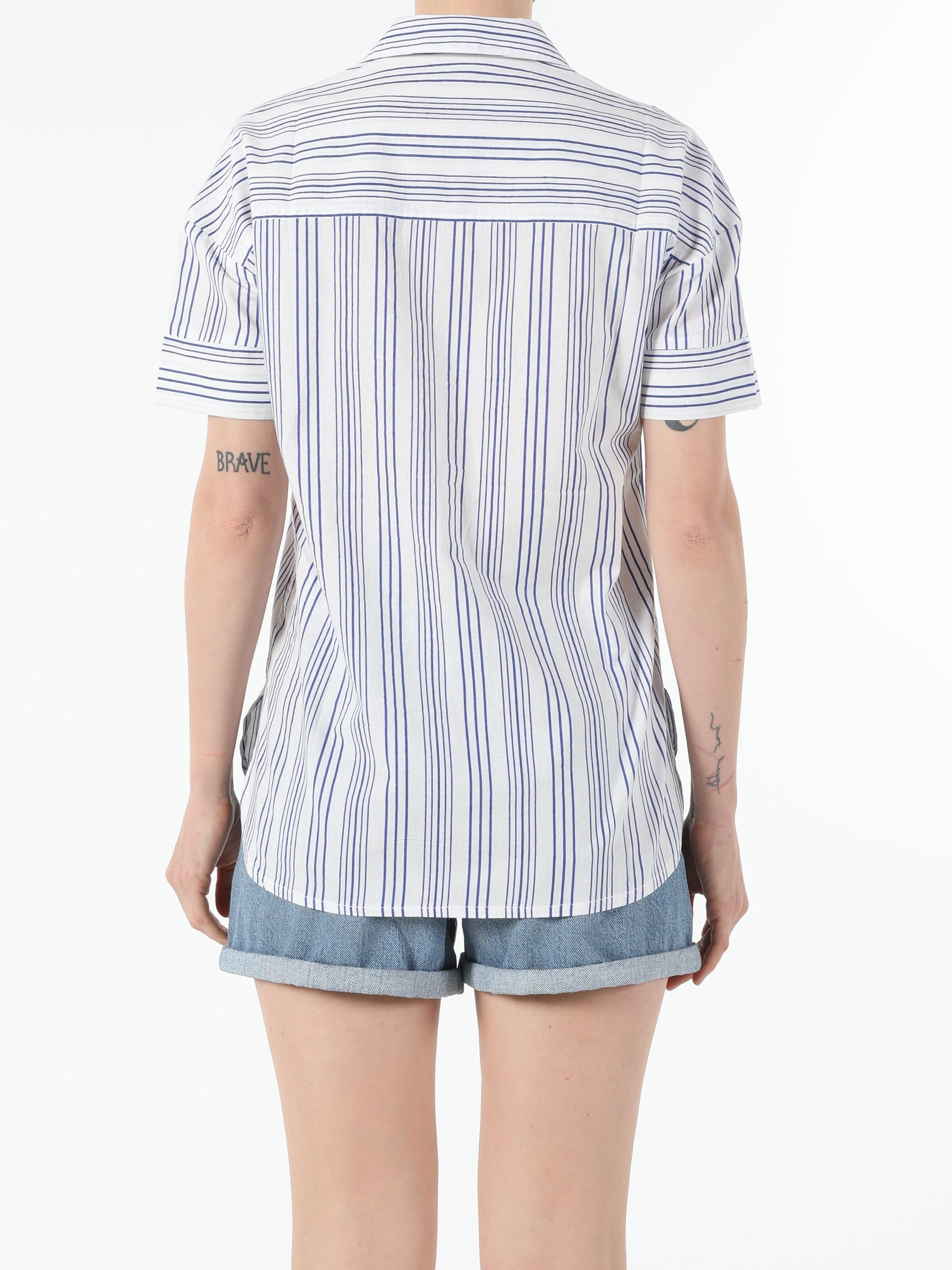 Показать информацию о Женская рубашка с коротким рукавом regular fit CL1054189