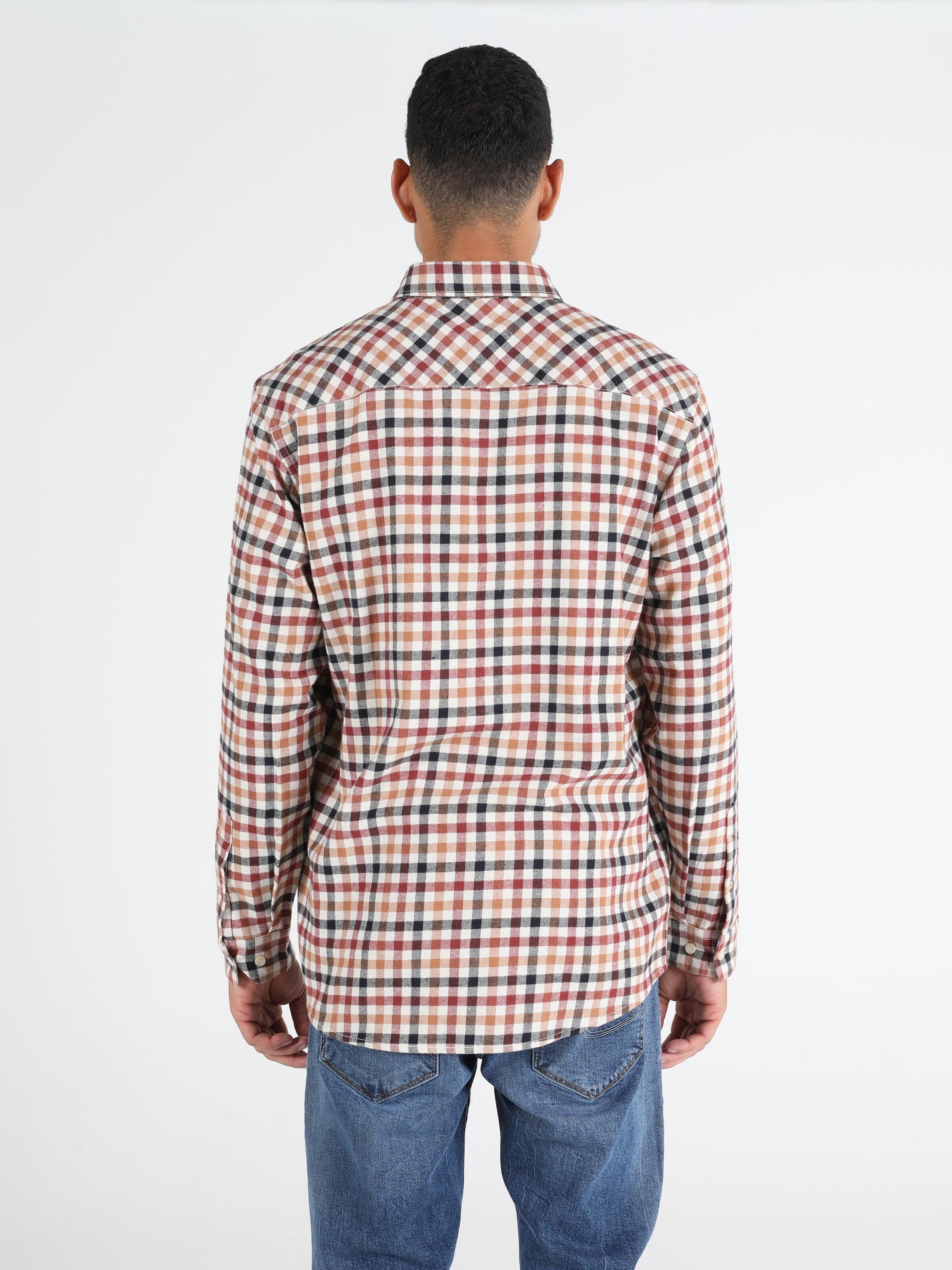 Показать информацию о Мужская рубашка с длинним рукавом Comfort Fit CL1050221