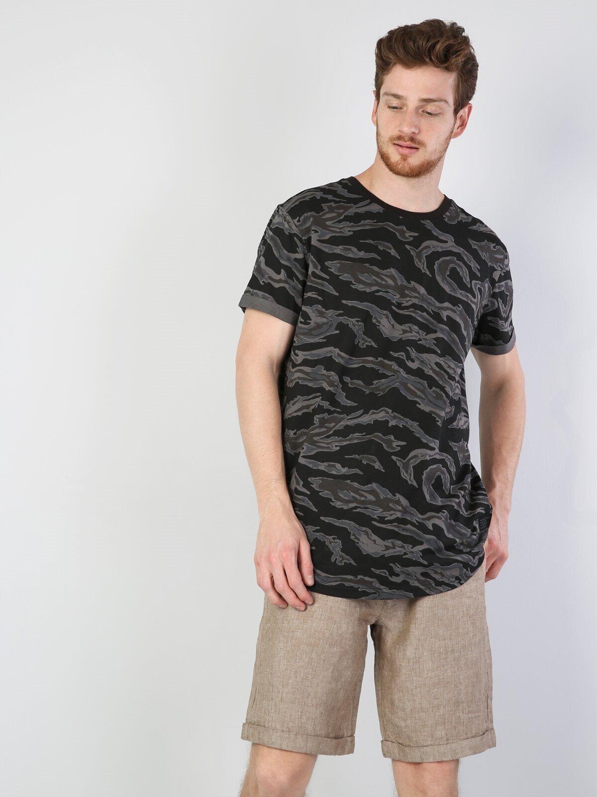 Показать информацию о Мужская футболка с коротким рукавом  CL1044182