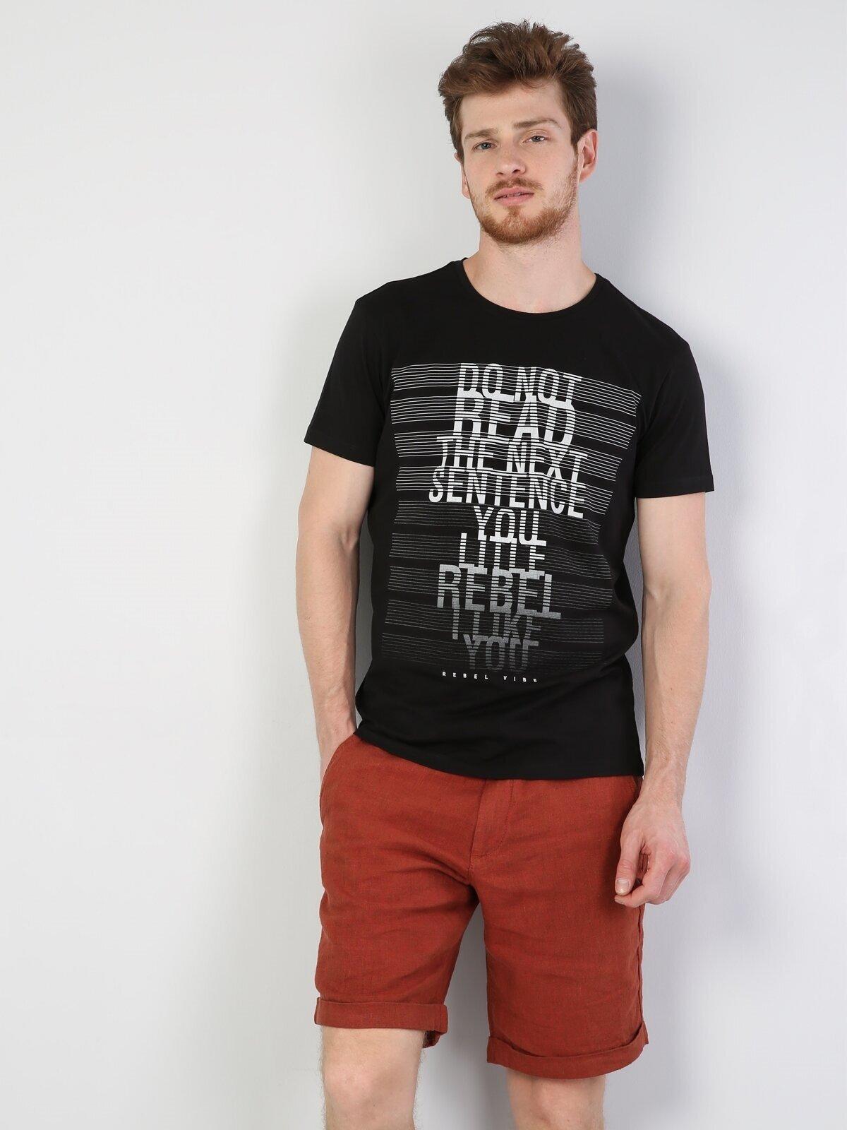 Показать информацию о Мужская футболка с коротким рукавом slim fit CL1044353