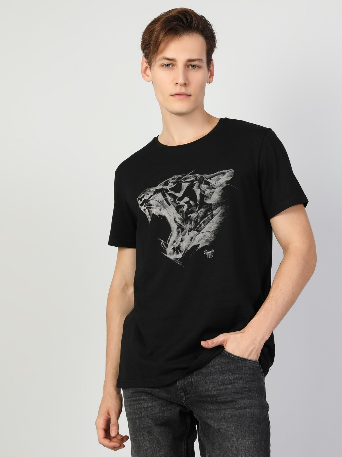 Показать информацию о Мужская футболка с коротким рукавом regular fit CL1048561