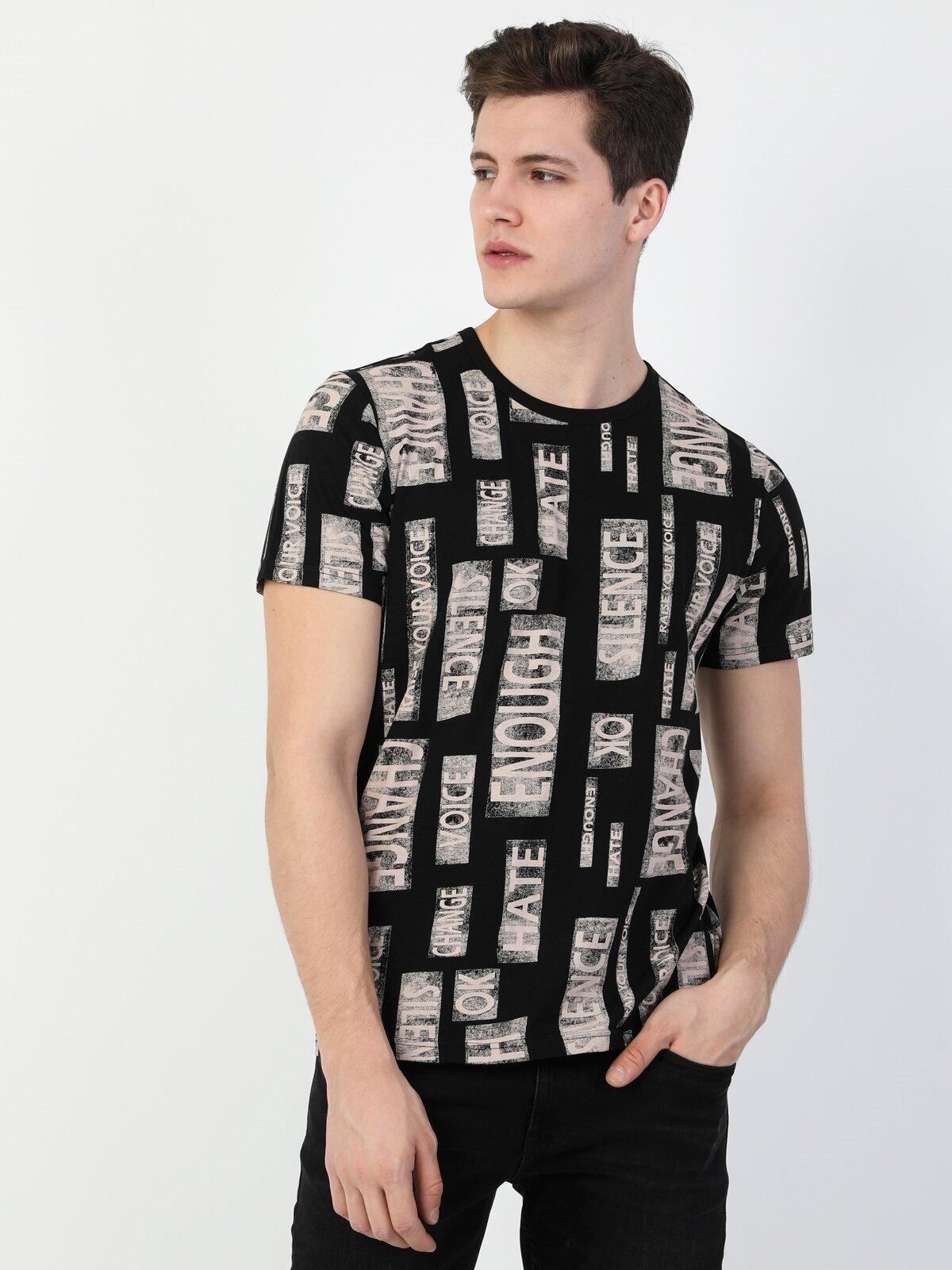 Показать информацию о Мужская футболка с коротким рукавом regular fit CL1048496