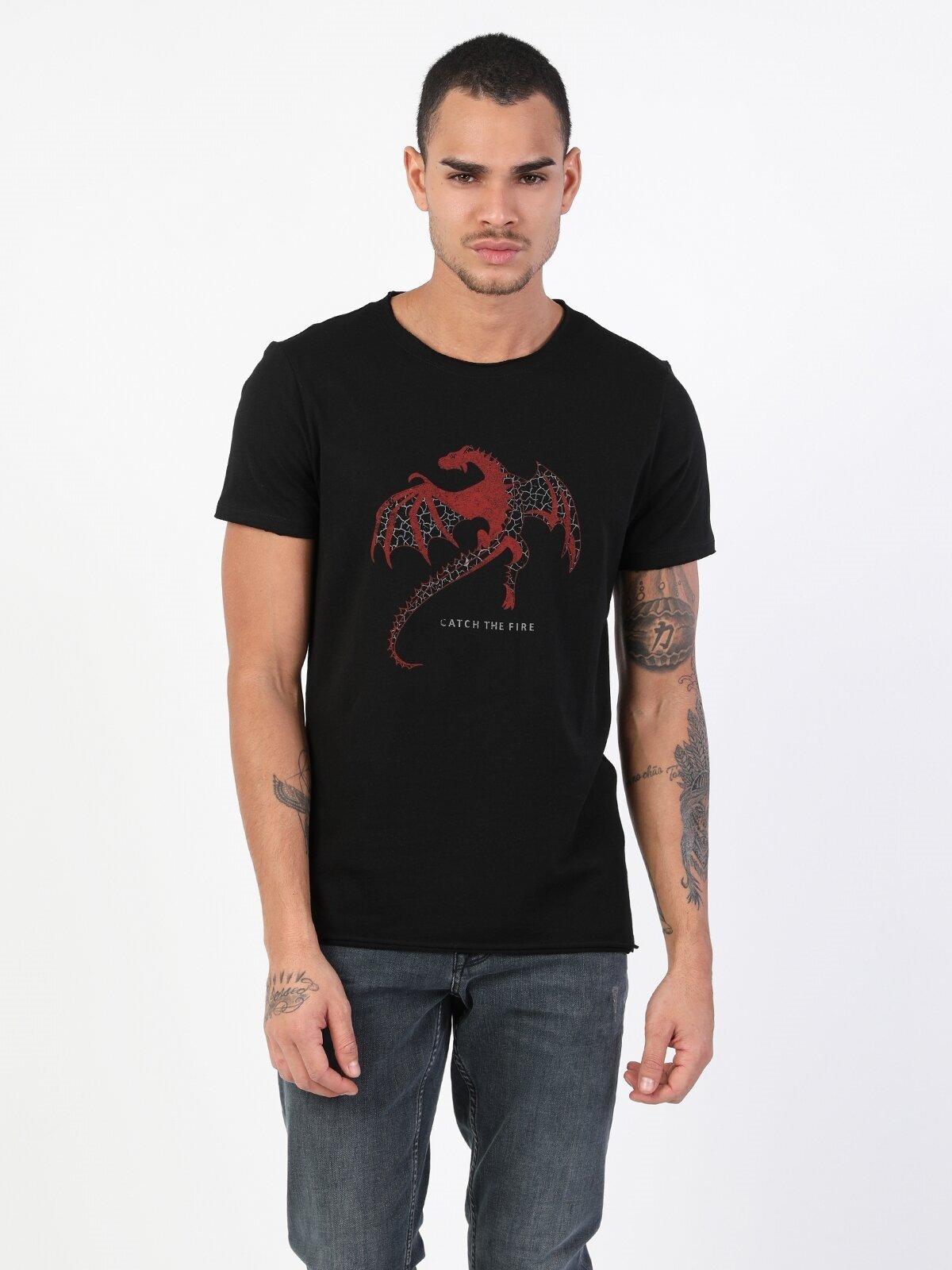 Показать информацию о Мужская футболка с коротким рукавом regular fit CL1048247