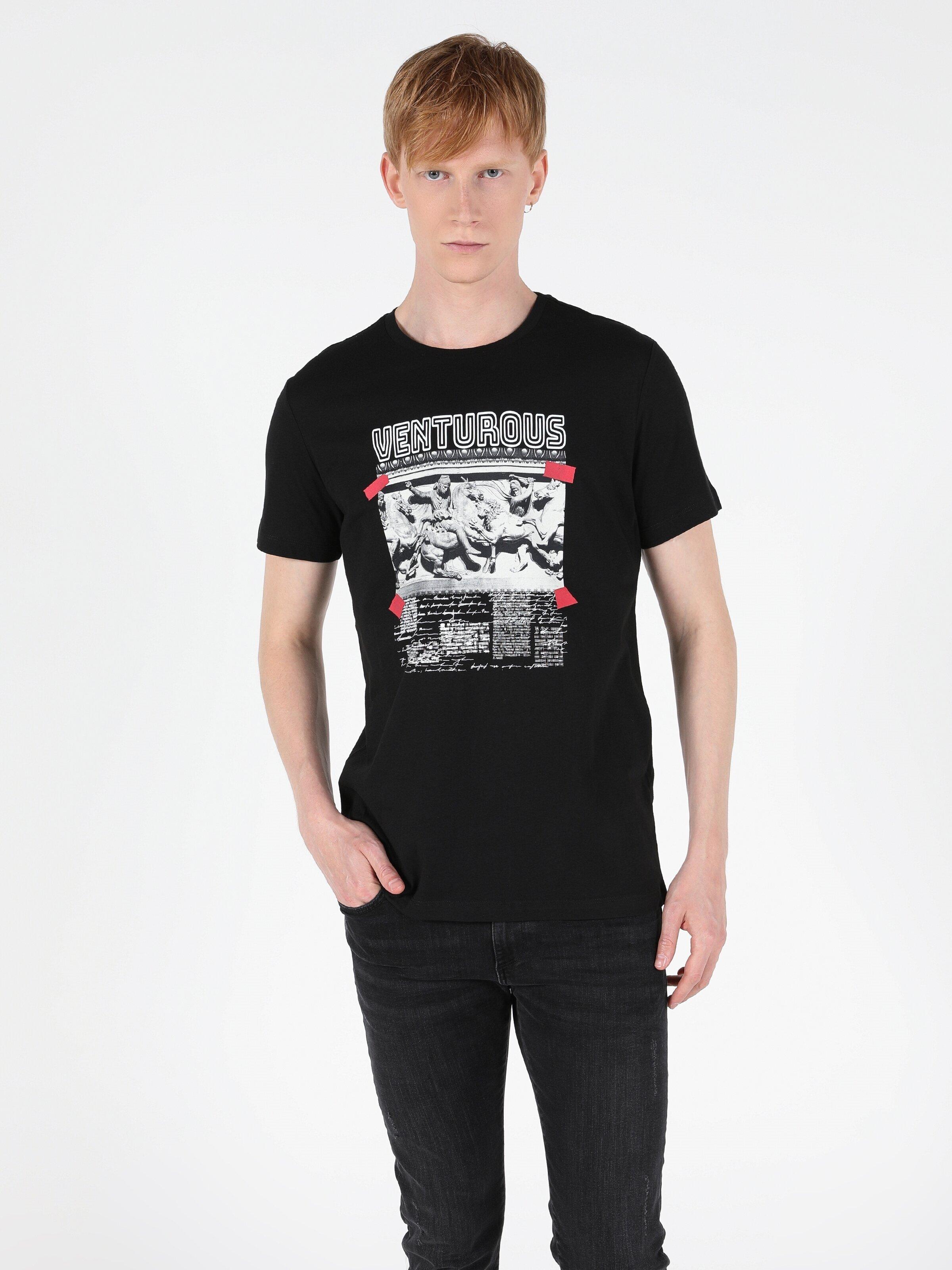 Показать информацию о Мужская футболка с коротким рукавом regular fit CL1049931