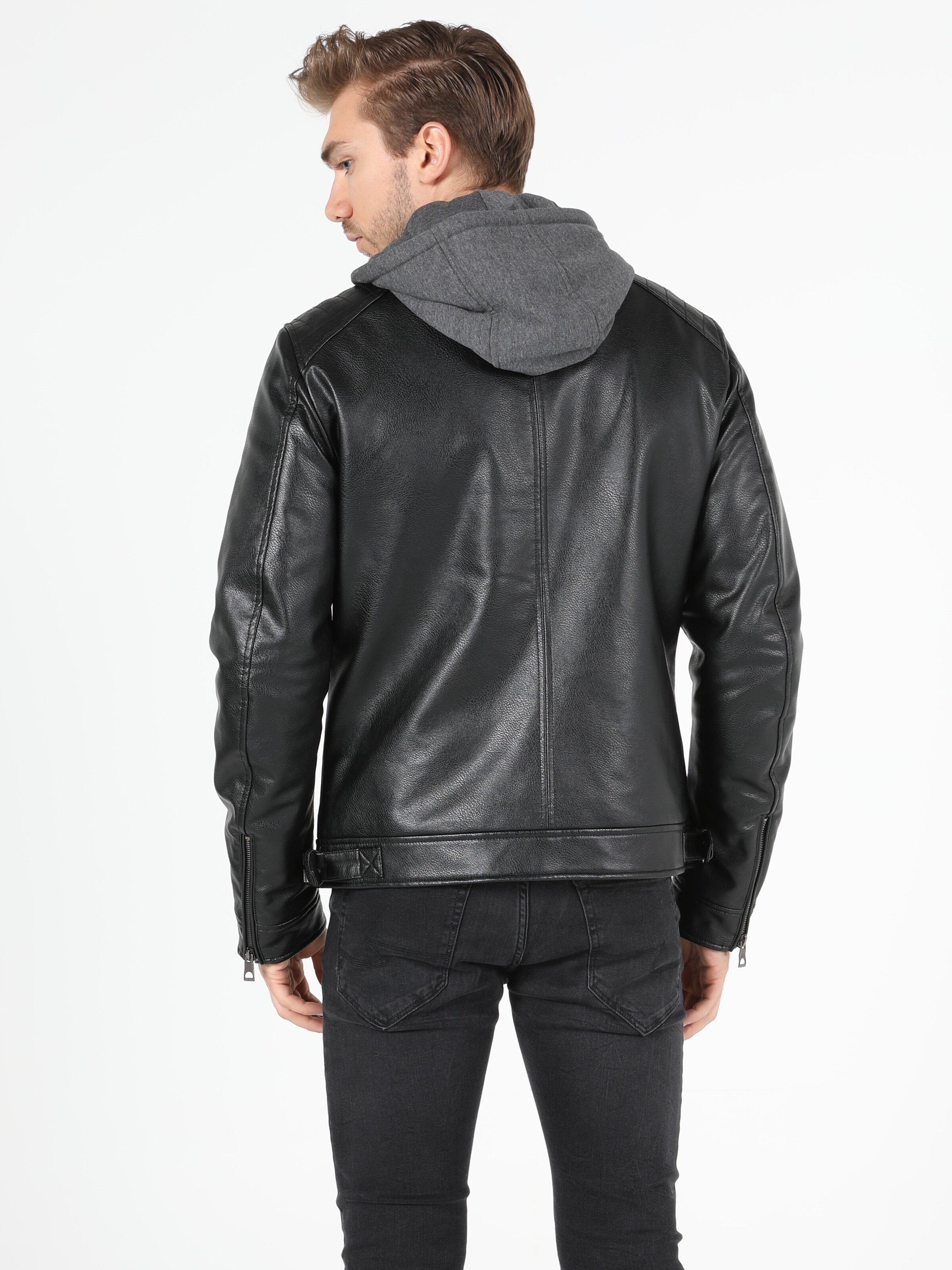 Показать информацию о Мужская куртка из эко-кожи slim fit CL1049953