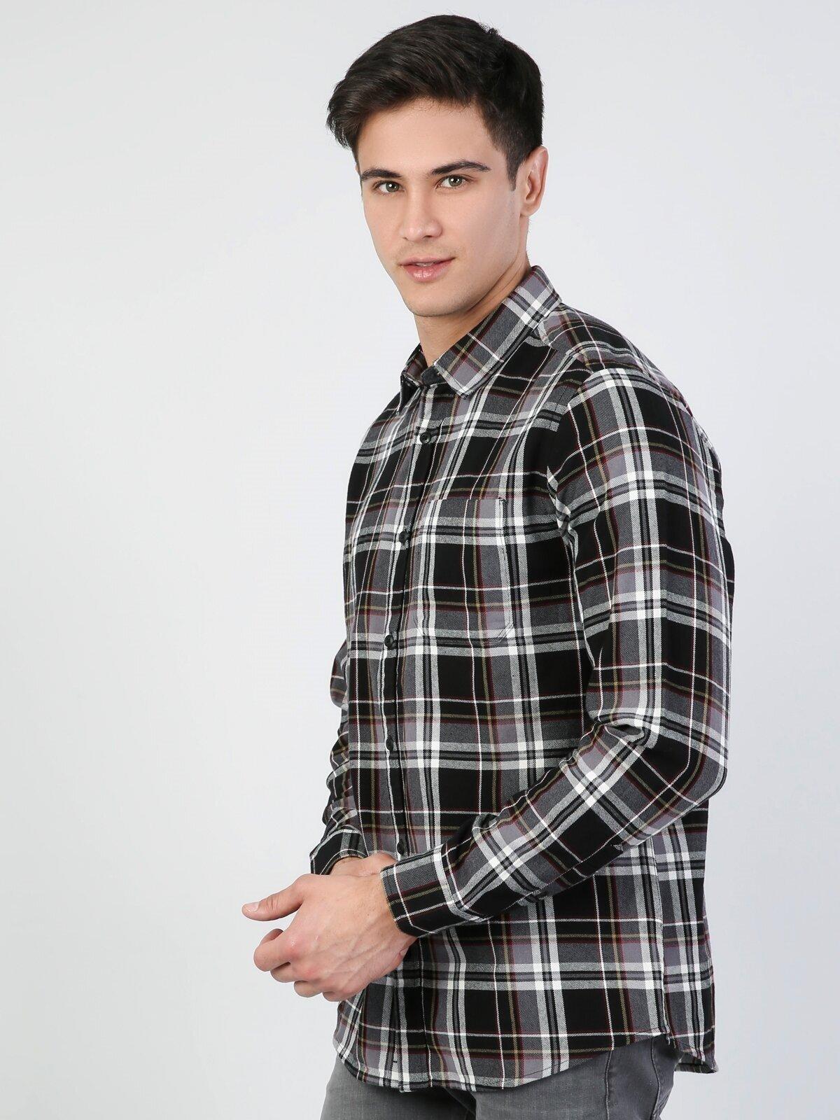 Показать информацию о Мужская рубашка с длинним рукавом regular fit CL1044771