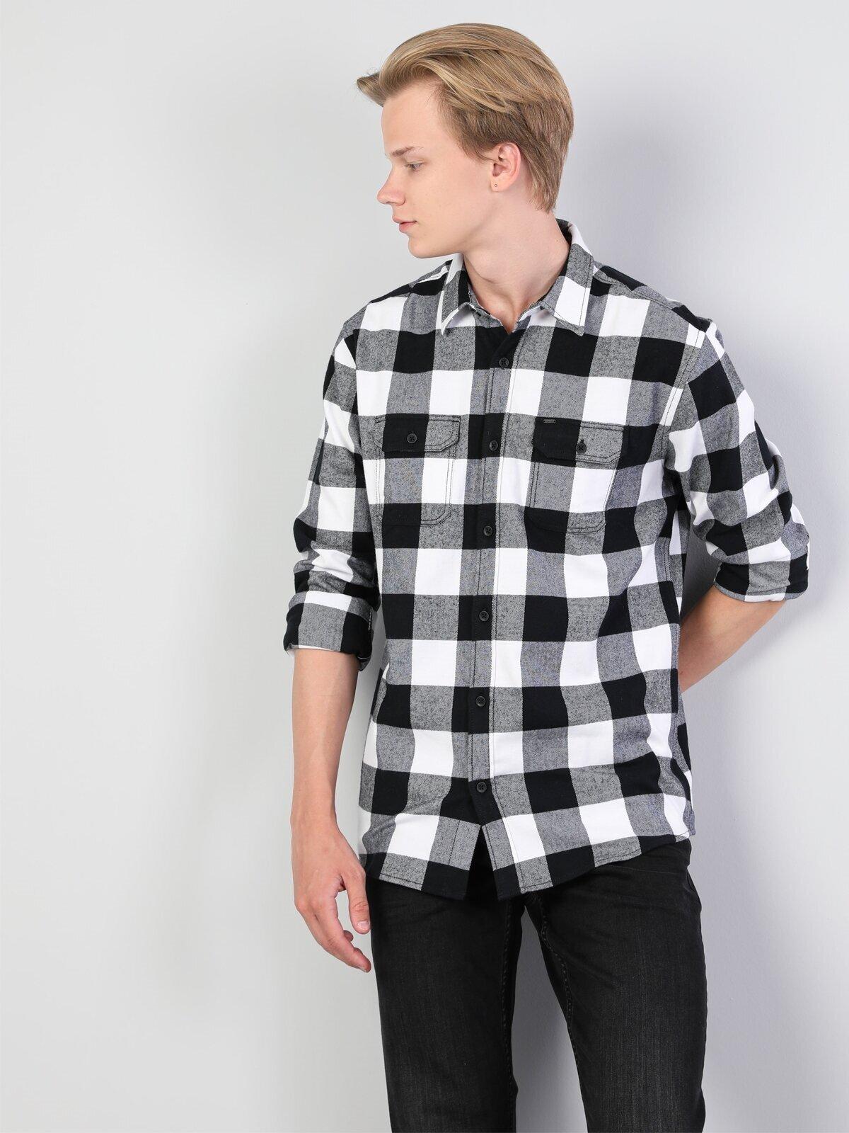 Показать информацию о Мужская рубашка с длинним рукавом regular fit CL1045319