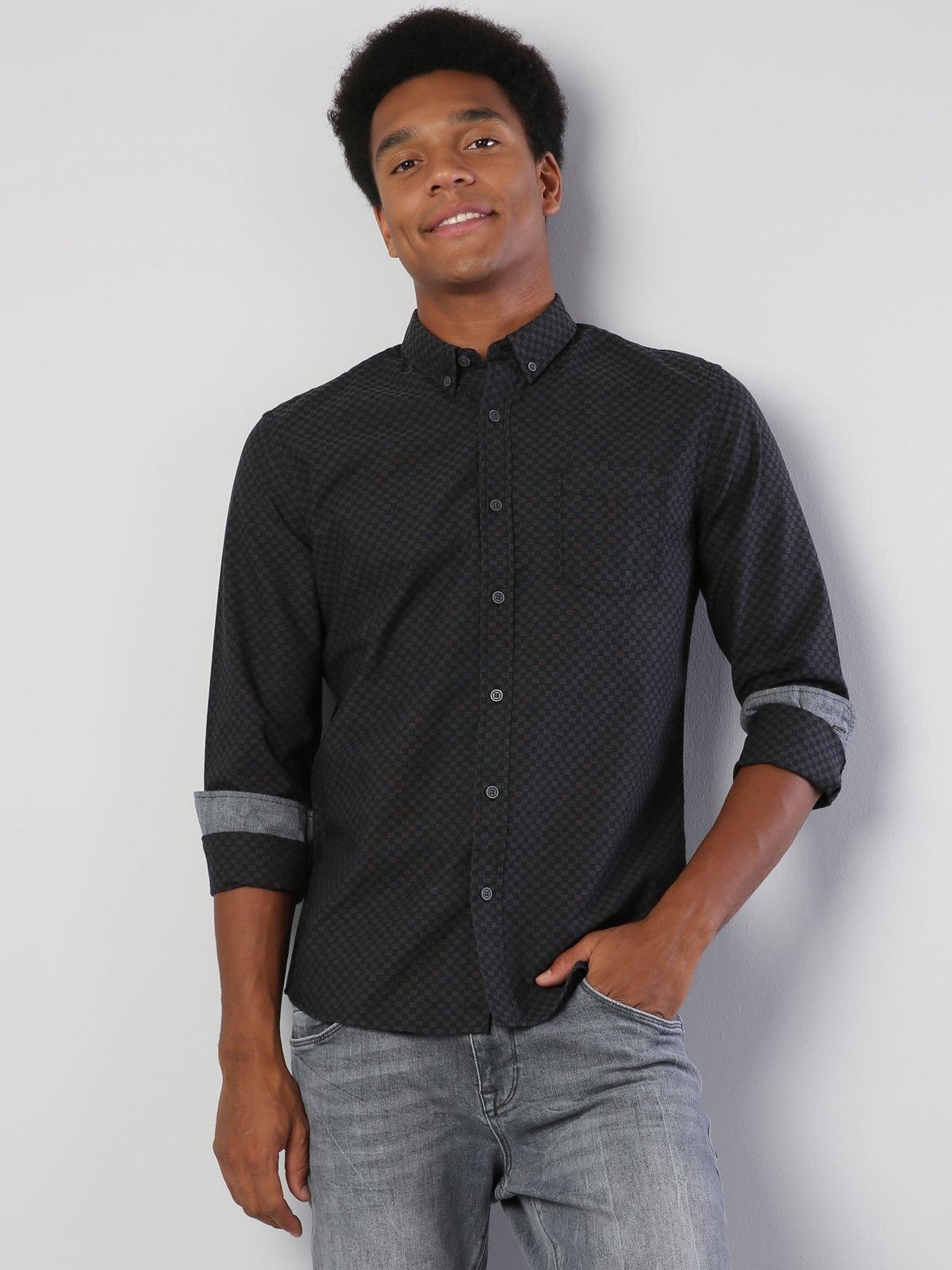 Изображение Черный муж. Рубашки Длинний рукав