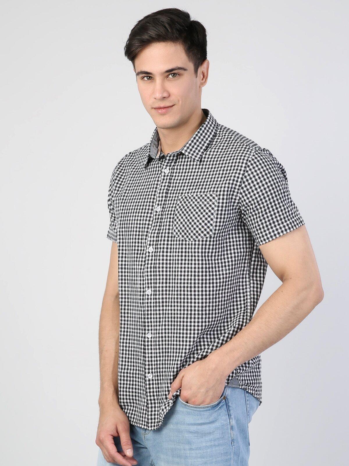 Показать информацию о Мужская рубашка с коротким рукавом regular fit CL1041746