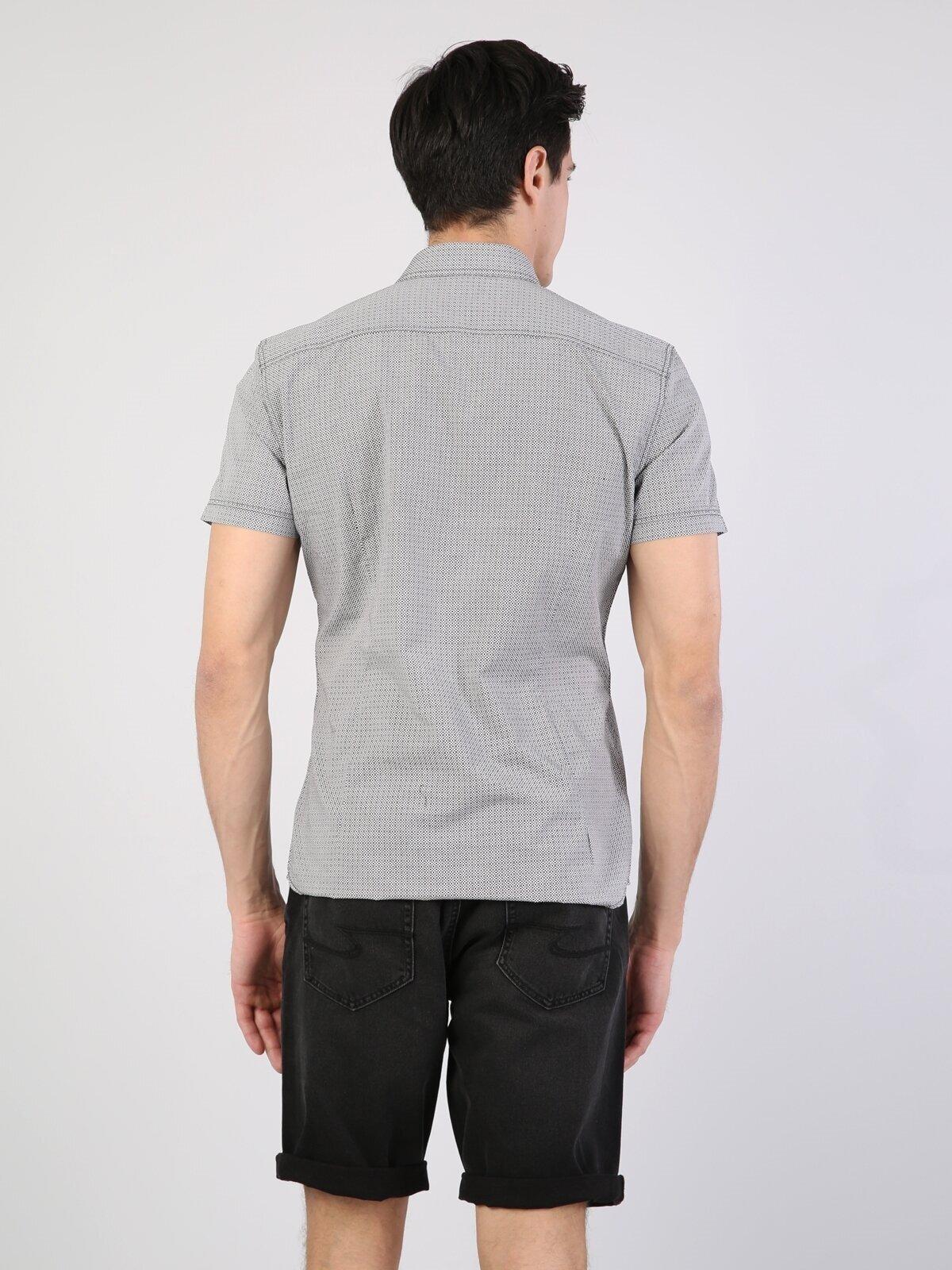 Показать информацию о Мужская рубашка с коротким рукавом slim fit CL1042026