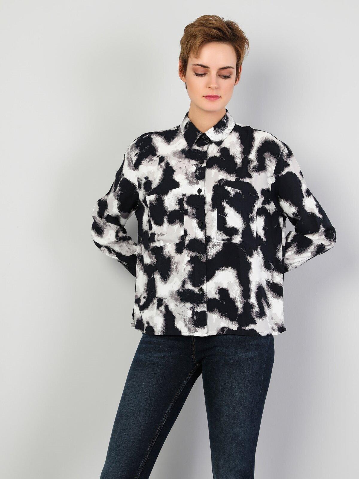 Показать информацию о Женская рубашка с длинним рукавом regular fit CL1047130