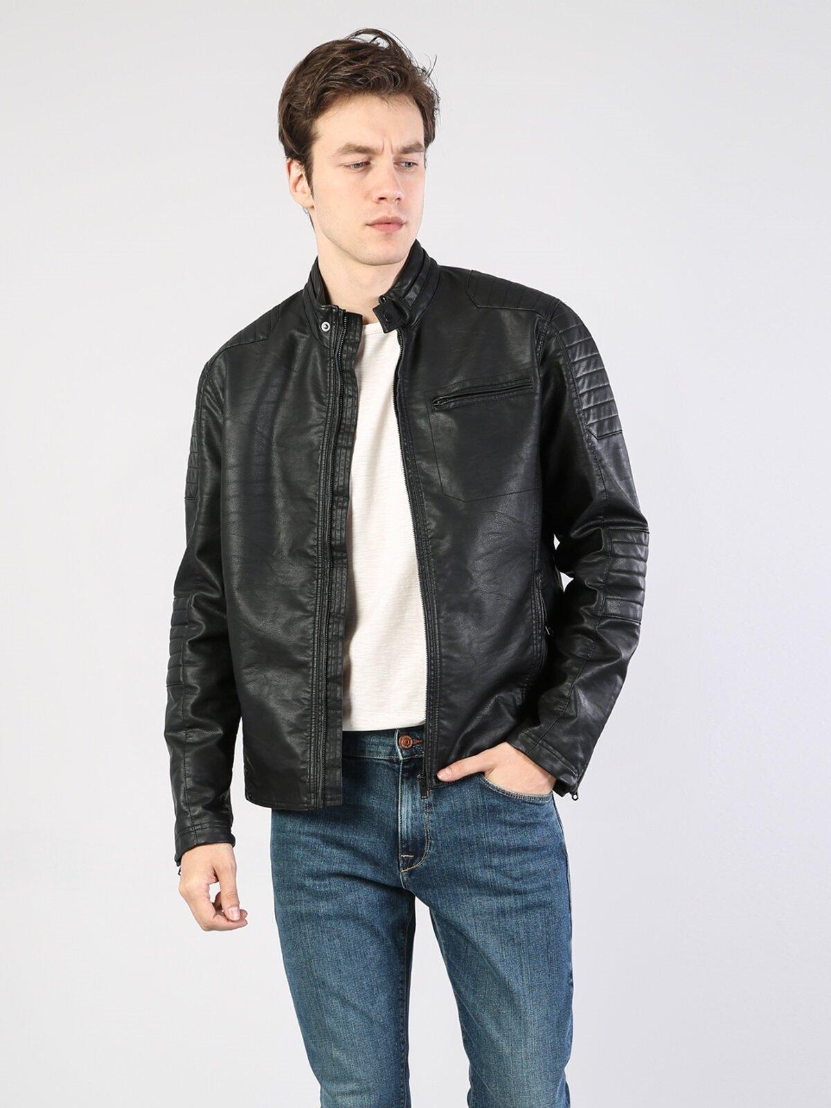 Показать информацию о Мужская куртка из эко-кожи slim fit CL1028719