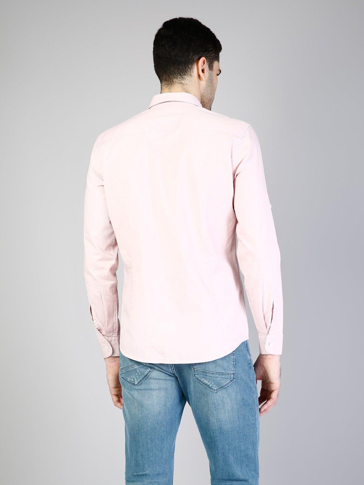 Показать информацию о Мужская рубашка с длинним рукавом modern fit CL1036529