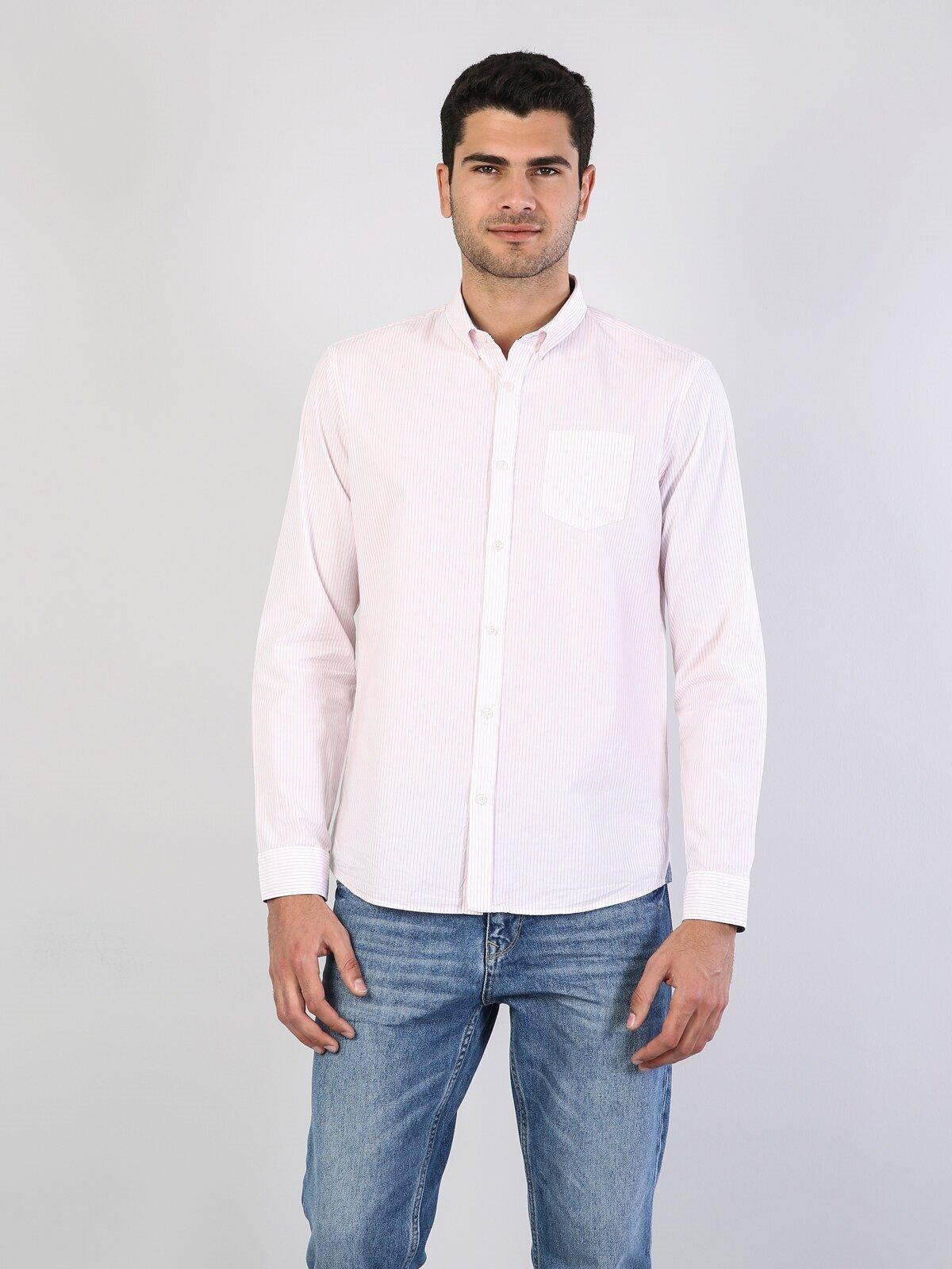 Показать информацию о Мужская рубашка с длинним рукавом regular fit CL1040957