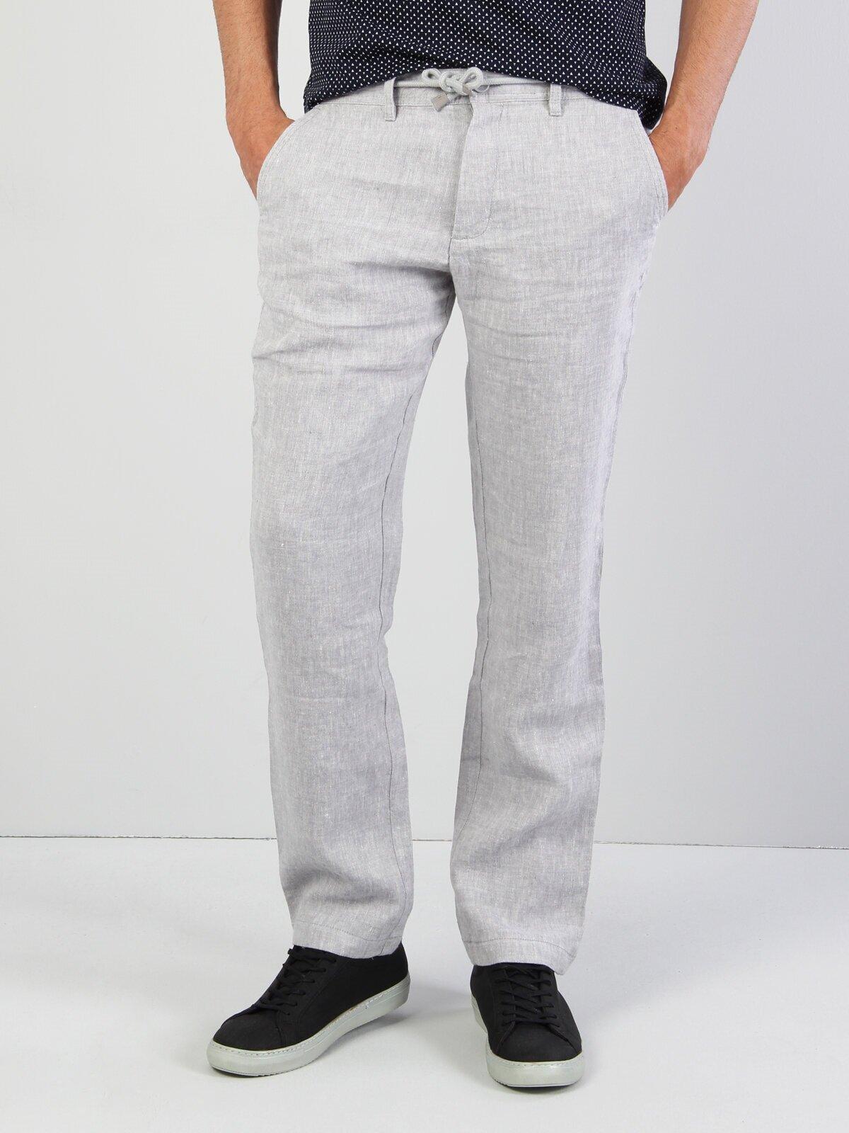 Показать информацию о Мужские прямые брюки  CL1033344