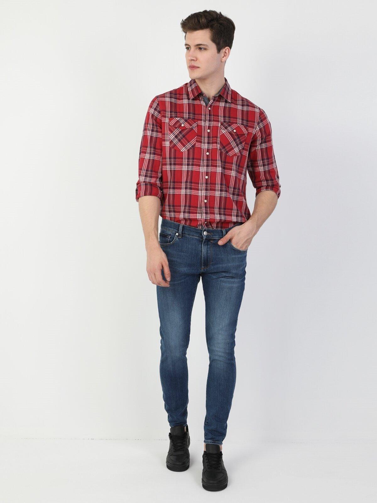 Показать информацию о Мужские узкие джинсы  040 RICKY CL1048618