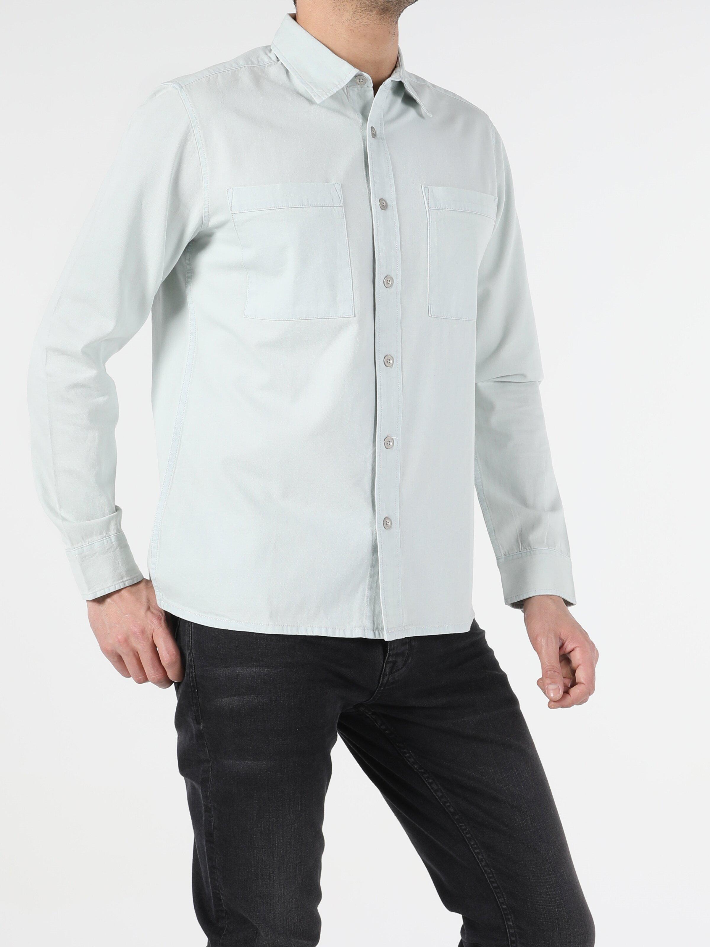 Показать информацию о Мужская рубашка с длинним рукавом  CL1054777