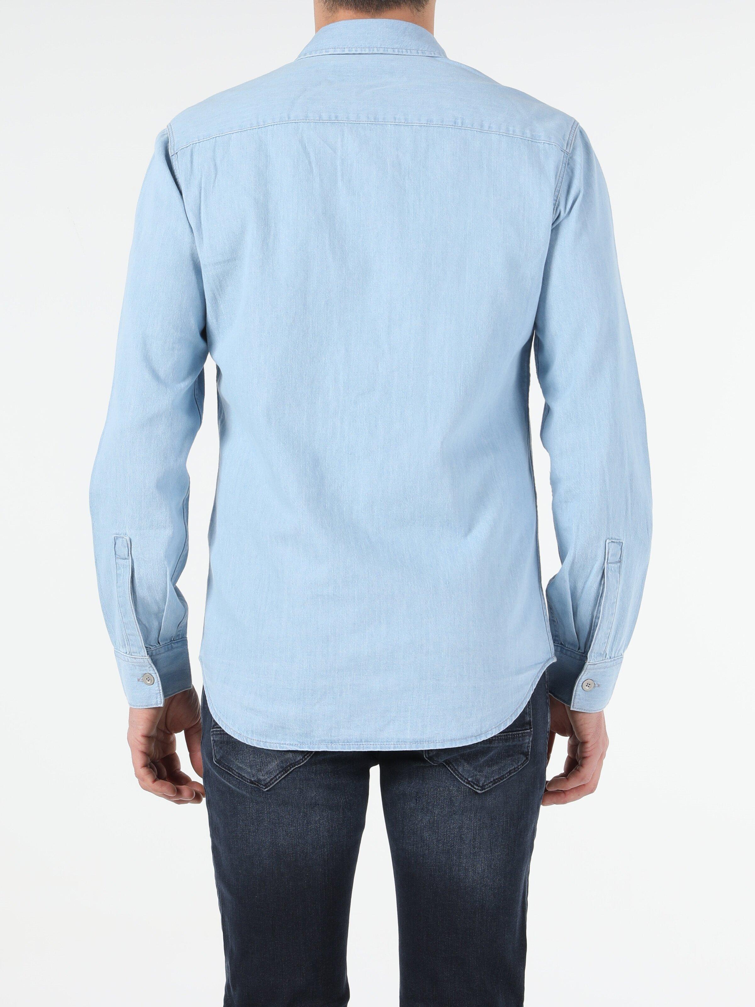 Показать информацию о Мужская рубашка с длинним рукавом slim fit CL1054778