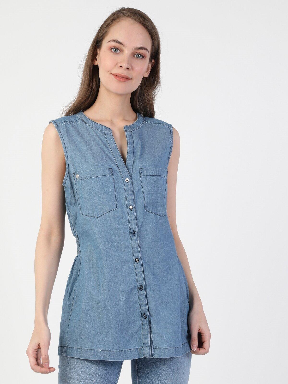 Показать информацию о Женская рубашка с коротким рукавом slim fit CL1049716
