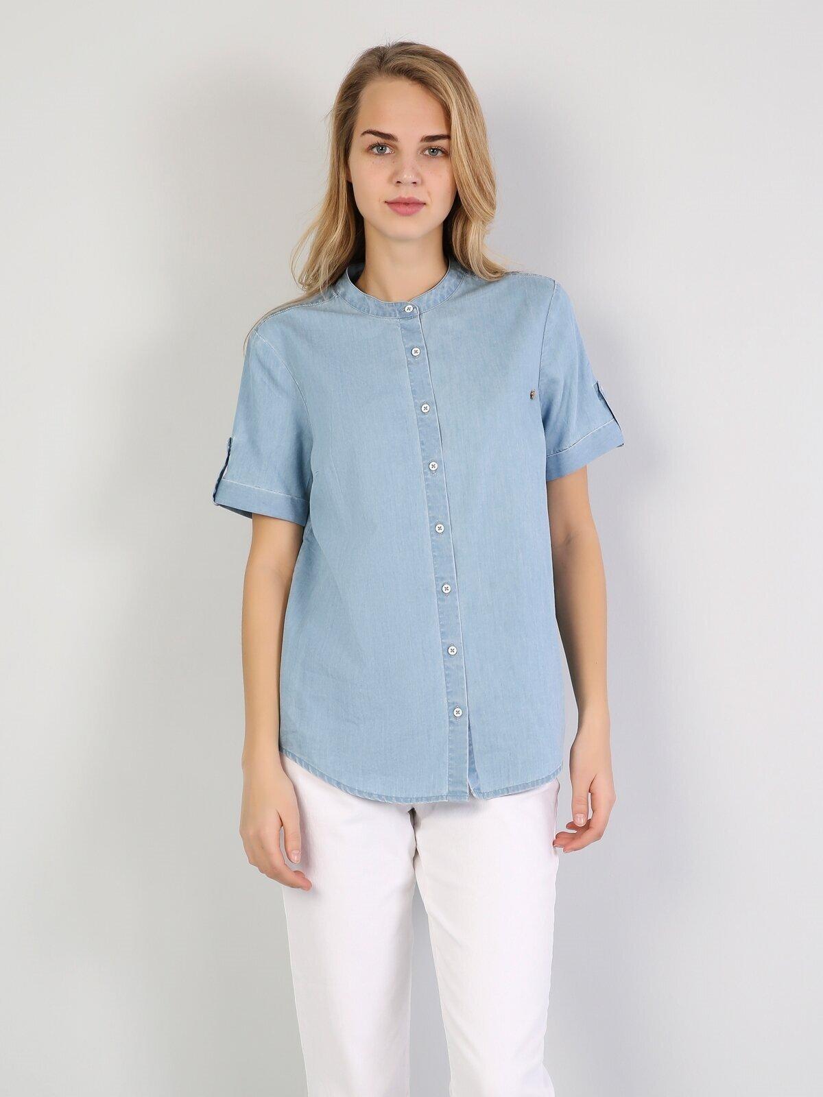 Показать информацию о Деним жен. Рубашки Короткий рукав