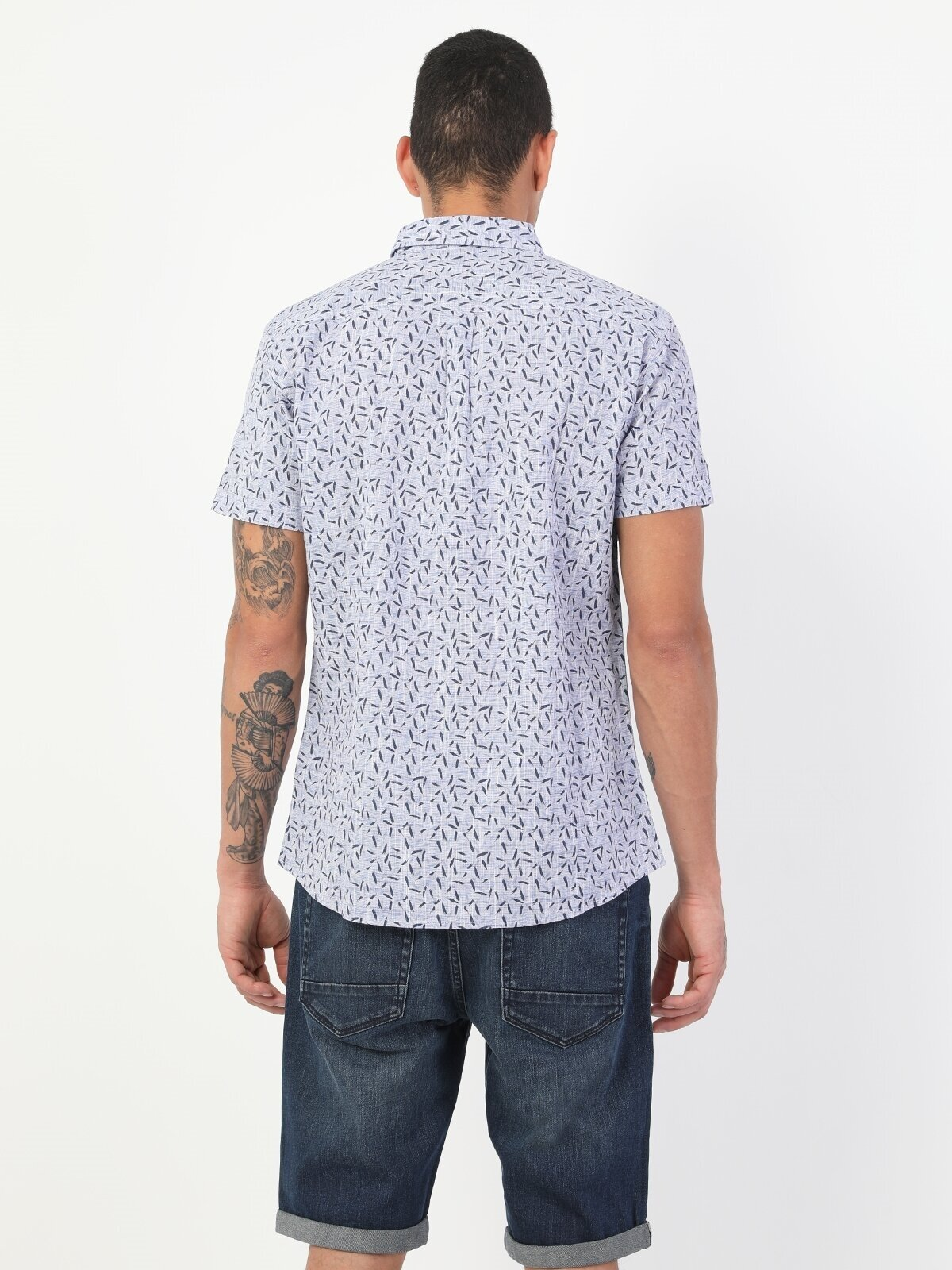 Показать информацию о Мужская рубашка с коротким рукавом slim fit CL1048520
