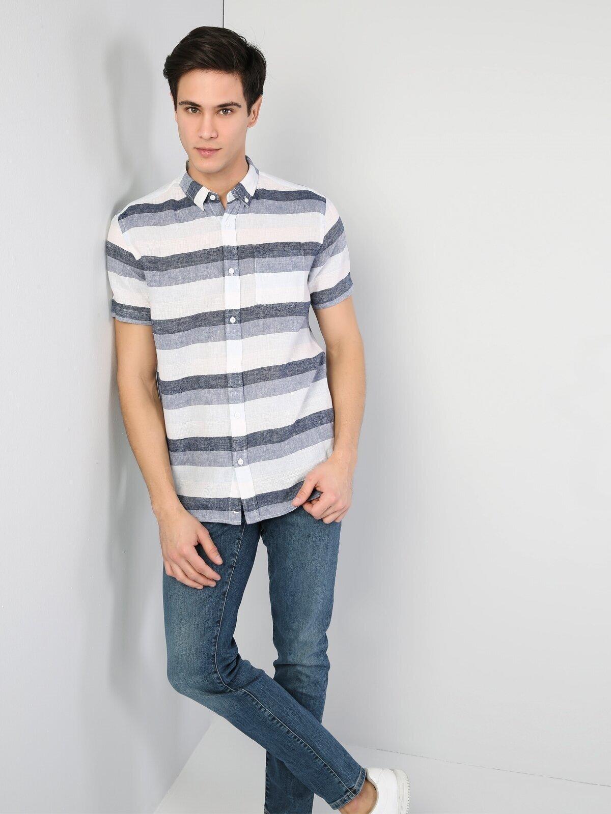 Показать информацию о Мужская рубашка с коротким рукавом regular fit CL1042069