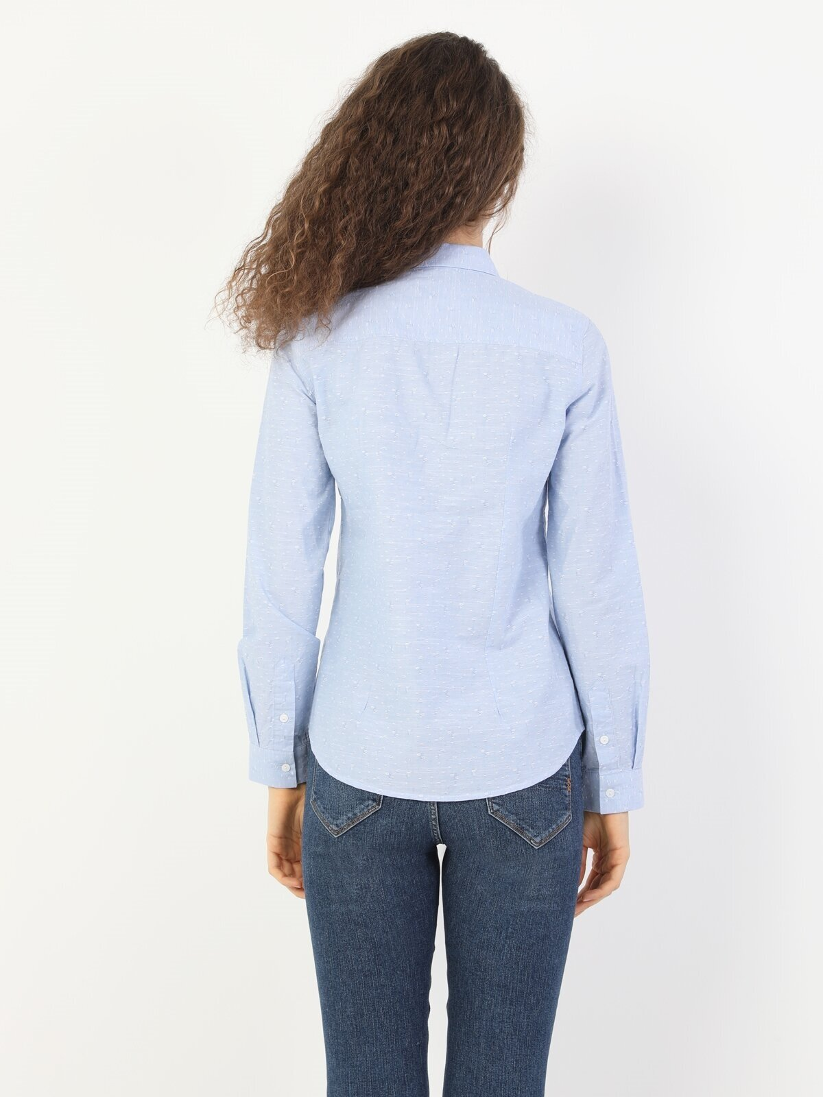 Показать информацию о Женская рубашка с длинним рукавом slim fit CL1047326